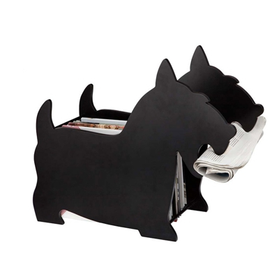 Balvi Dog Magazine Rack Black