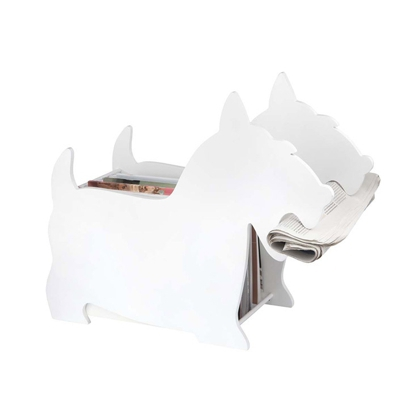 Balvi Dog Magazine Rack White
