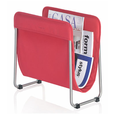 Blomus Levio Magazine Rack Red