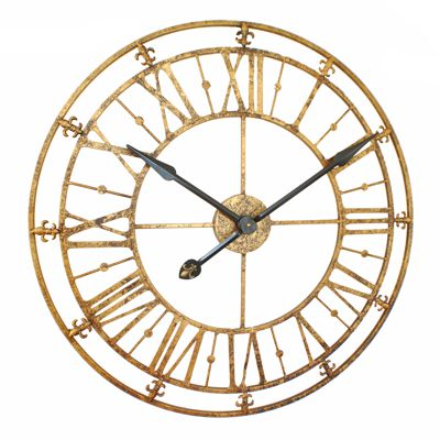 gold antique iron skeleton wall clock uk. Black Bedroom Furniture Sets. Home Design Ideas
