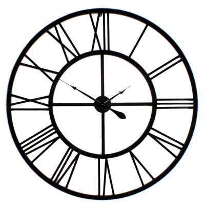 wrought iron skeleton wall clock contemporary heaven uk