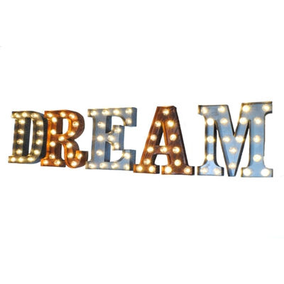 Dream Illuminated Carnival Vintage Letter Lights