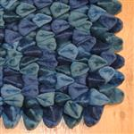 Dreamweavers Petrol Blue Chamois Pebble Rug