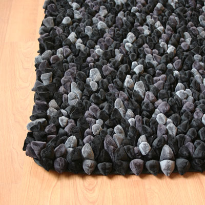 Dreamweavers Charcoal Chamois Pebble Rug