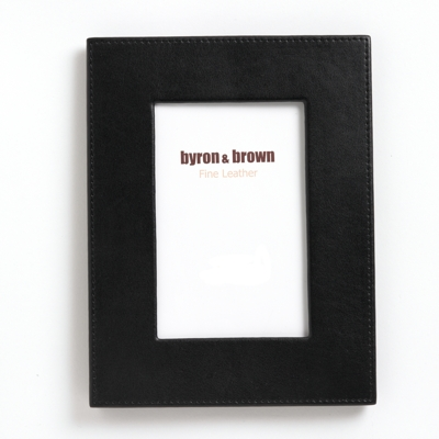 Byron & Brown Classic Leather Black Frames