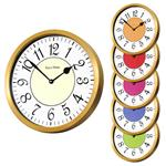 Roco Verre Modern Vintage French Wall Clock Brass