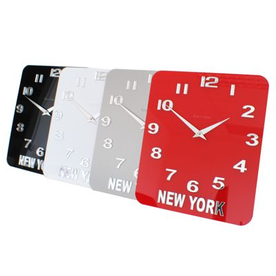 Roco Verre Acrylic Gloss Timezone World Wall Clock
