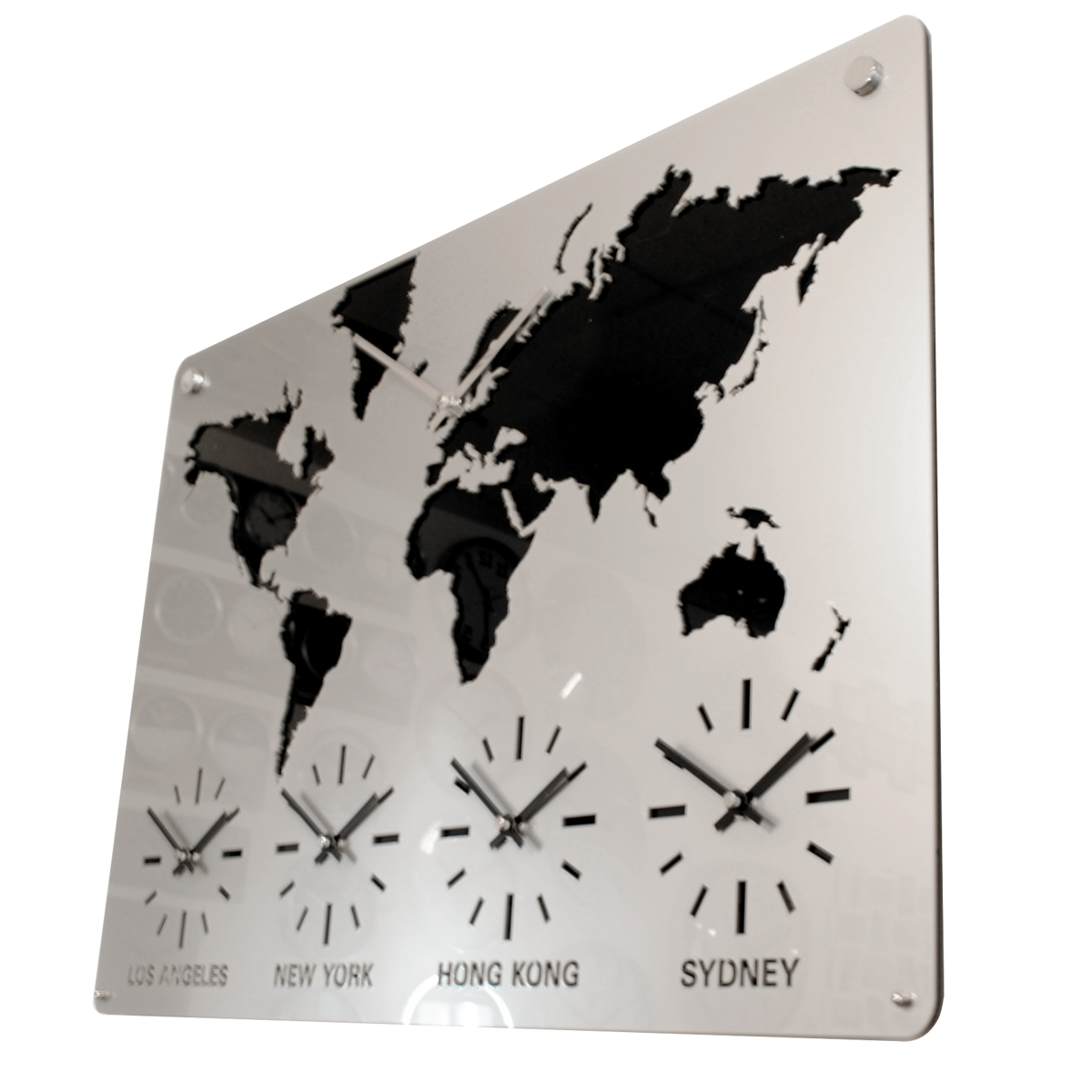 Time Zone Map Black And White: Multiple Time Zones Buy Online
