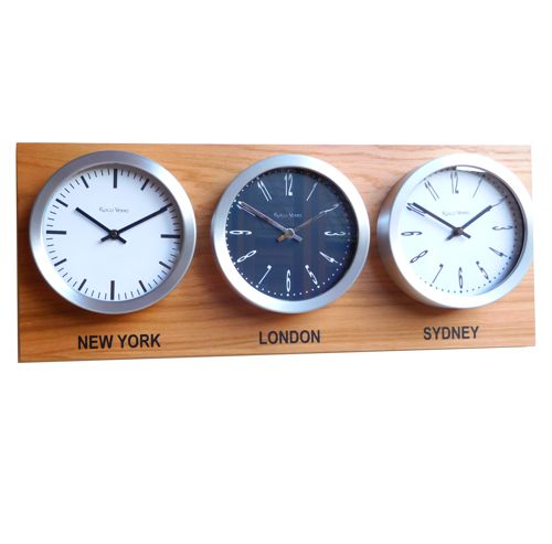 Time Zone Map Black And White: Custom World Time Zone Wall Clocks, Modern Designs