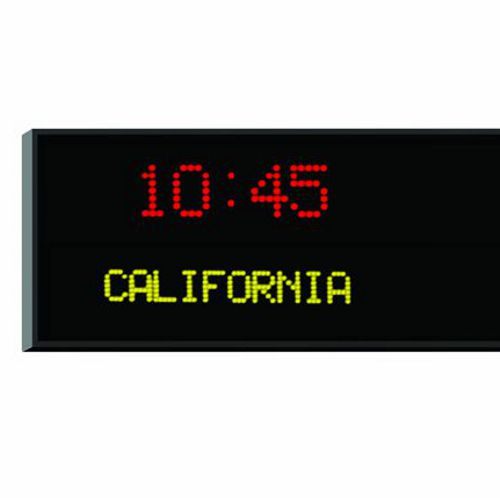 Roco Verre Dot Matrix Digital Time Zone Clock 3cm