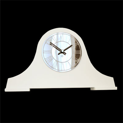 Unique Roco Verre Roman Mantel Clock White At Contemporary