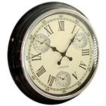 Modern Vintage Time Zone Wall Clock Cream Dial