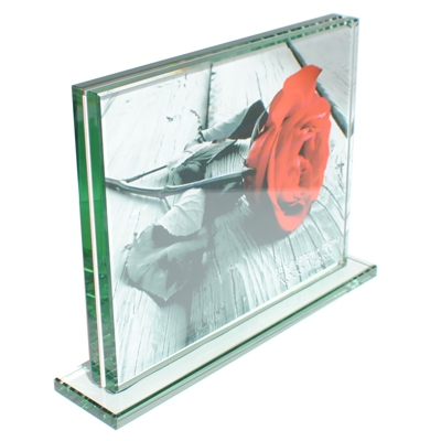 Roco Verre  Thick Glass Photo Frame 10 x 8 H