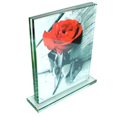 Roco Verre Thick Glass Photo Frame 10 x 8 V