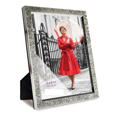 Upton Textured Silver Plated Photo Frame