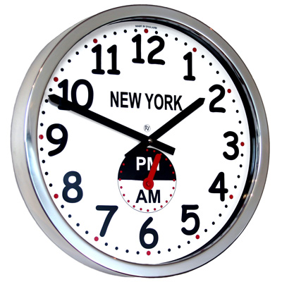 Uk roco verre custom time zone world clock am pm clock - Ampm ophanging ...