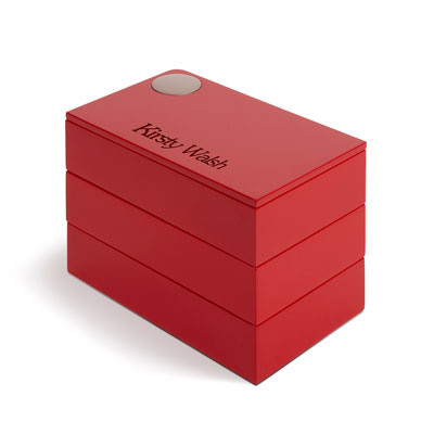 Umbra Spindle Jewellery Box Red Personalised