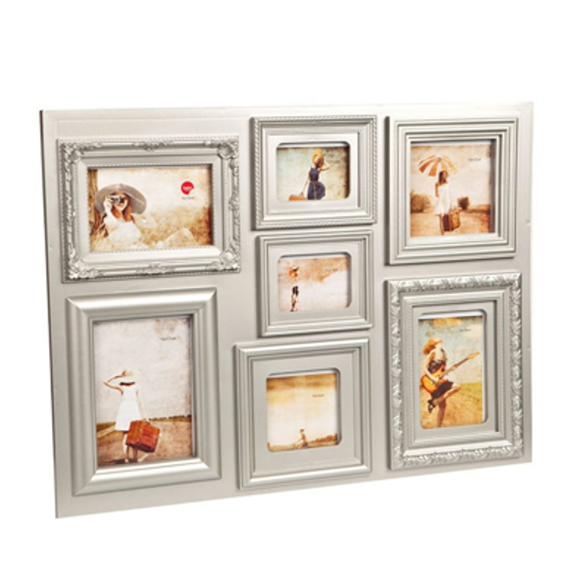 11 oz. All Surface Metallic Satin Oil Rubbed Bronze Red multi aperture photo frame