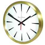Chevron Brass Clock 35cm