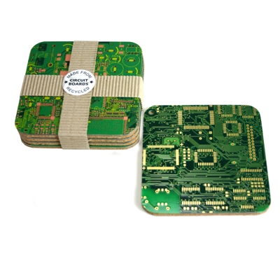 Circuit Board Coasters :  home designer home accents contemporary heaven