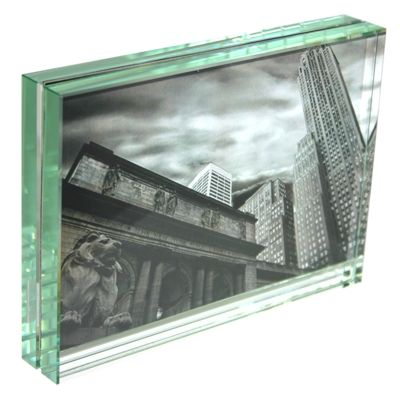 uk roco verre classic thick glass photo frame 6x4 h