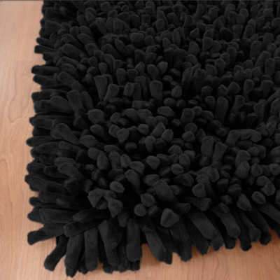 Dreamweavers Black Spiky Rug
