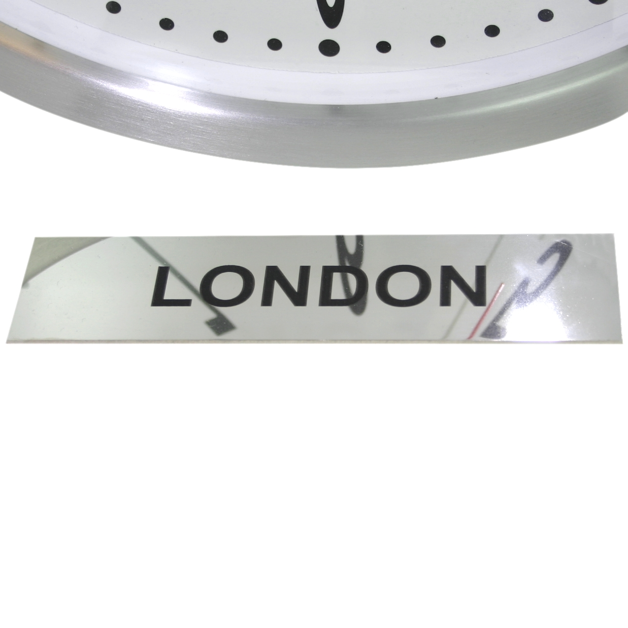 UK: Personalised Our Custom Stainless Steel Time Zone