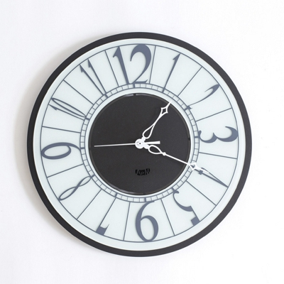 Arti & Mestieri Ring Piccolo Wall Clock Black