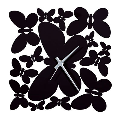 Arti & Mestieri Butterfly Storm Black Wall Clock