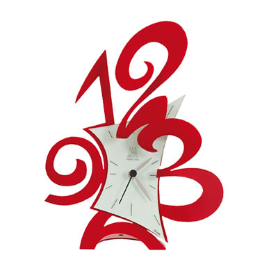 Arti & Mestieri Robin Mantel Clock Red