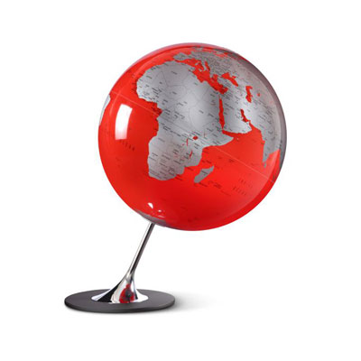 Atmosphere Anglo Globe Red