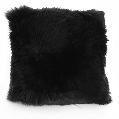 Auskin Long Wool Black Cushion