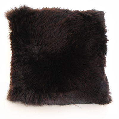 Auskin Long Wool Chocolate Cushion