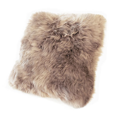 Auskin Long Wool Taupe Cushion