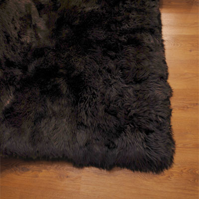 Auskin Long Wool Chocolate Rug