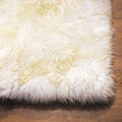 Auskin Long Wool Ivory Rug