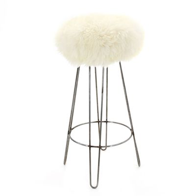 BaaStool Sheepskin Bar Stool Ivory Cream