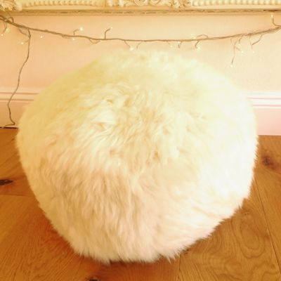 BaaStool Sheepskin Pouffe