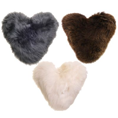 BaaStool Sheepskin Heart Cushions