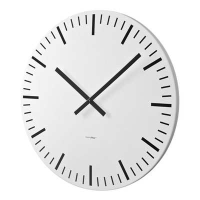 Balvi Modern White Station Large Big Wall Clock