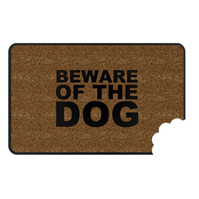 Balvi Beware of the Dog Door Mat
