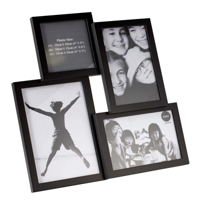 Balvi Isernia 4 Multiple Photo Frame Black