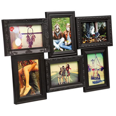 Balvi Magic 6 Aperture Frame Black