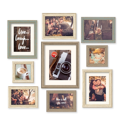 Balvi Wall Decor Set of 9 Picture Frame Set