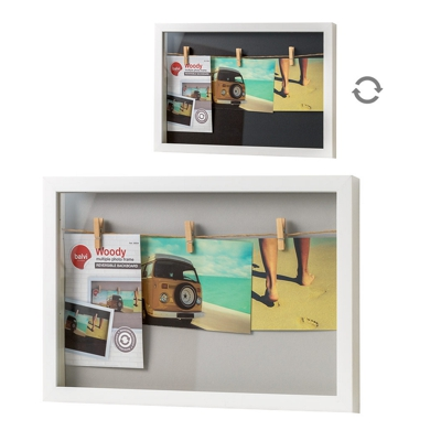 Balvi Woody Multiple 3 Photo Frame White