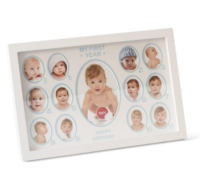 Balvi One Year Baby Photo Frame White