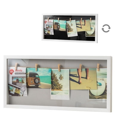 Balvi Woody Multiple 5 Photo Frame White