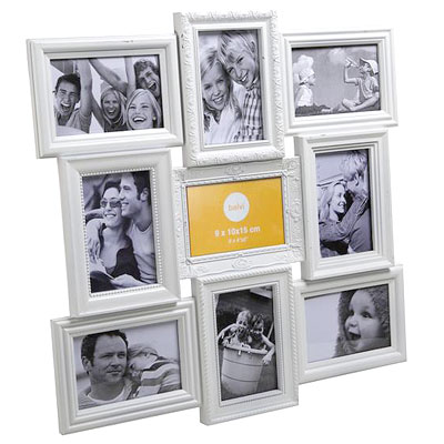 Balvi Magic 9 Aperture Frame White
