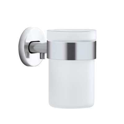 Blomus Areo Brushed Toothbrush Holder Glass