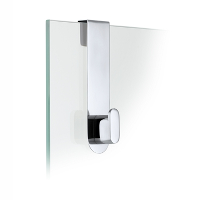 Blomus Areo Polished Glass Shower Over Door Hook